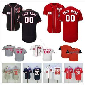 Custom # Nationals de Washington 37 Stephen Strasburg Maillot Homme Femme Enfants Jeunes Baseball Maillots Domicile Extérieur Logos Cousu Livraison gratuite
