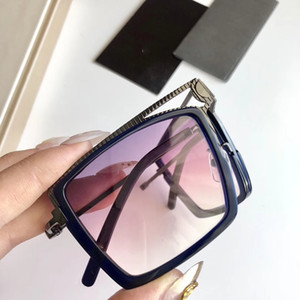 2019 HOT Luxo 6053 óculos escuros de grife para mulheres dos homens dobrável Verão Estilo Retângulo Moldura Completa Top Quality Proteção UV vindo com caso
