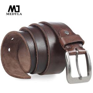Medyla Clássico Projetado Fivela Macho Strap 100% Genuíno Superior Cinto De Couro Para Homem Cinto Largura Cummerbund Cinto masculino Q190417
