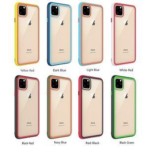 Regenbogen Transparent Klarglas zurück Fall weicher TPU-Rahmen-Telefon-Kasten für iPhone 11 Pro Max XR XS Max 8 7 Plus-6G