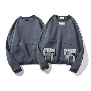 Männer Frauen Hoodies Essentials-Multi-Tasche Retro Langarm VliesHoodie Fashion Solid FOG Hoodies Größe M-XXL