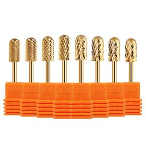 Nail brocas de cortador de uñas para uñas manicura máquina eléctrica de acero de tungsteno Cabeza Accesorios arte suprimir Gel