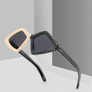 Neue ankunft markendesigner polygonal diamant sonnenbrille frauen hd mode marke doppelte farbe sonnenbrille steigung eyewear uv400
