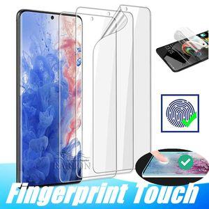 Полный клей Клей Screen Protector Прозрачная Защитная пленка Мягкая ПЭТ для Samsung Galaxy S20 Ультра Примечание 10 S10 Plus S9 Нет Закаленное стекло