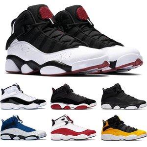 Топ 6 Шесть Кольца мужские ботинки баскетбола Бред Concord Matte Silver такси Белый университет Красный Мужские Кроссовки Спортивные кроссовки Размер 7-13