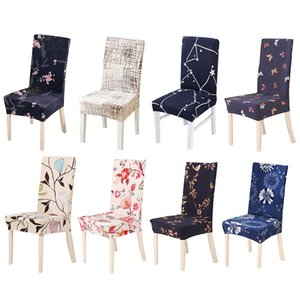 Forcheer Chair Covers Spandex Stretch Protector Fodera per il caso di sedile Poltrone Cucina Moderna stampa del fiore rimovibile