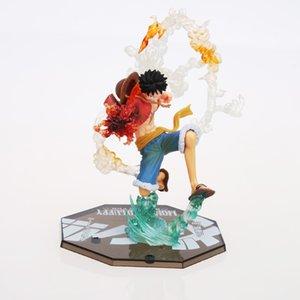18cm japonesa One Piece Luffy figura de acción de PVC Anime Nueva Colección calcula los juguetes de la colección para el envío libre regalo de Navidad
