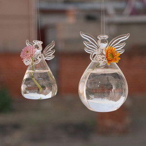 Angel Glass Hanging Vase Bottle Terrarium Hydroponic Container Plant Pot DIY Home Garden Decor 5cm*9cm Fast Shipping