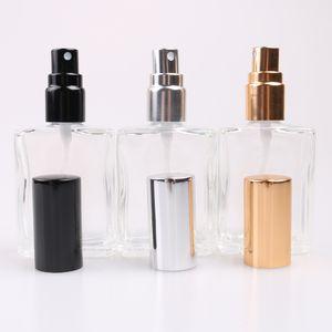 15ML Piazza trasparente di vetro a spruzzo profumo bottiglia riutilizzabile portatile atomizzatore di parfum per la corsa