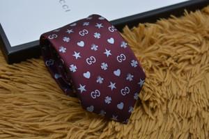 2019 Marca de moda Hombre Corbatas 100% Seda Jacquard Tejido clásico Hecho a mano Corbata de corbata de los hombres para hombres Boda Casual y de negocios Corbatas 635