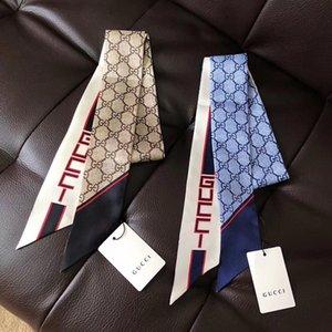 Designer Clássico europeu de boa qualidade Womens marcas Imprimir Silk Scarf Senhoras elegantes wrap lenços W0022 tamanho 120x7cm