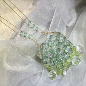 Cuentas de las mujeres del diseño de la vendimia hecha a mano Bolsas pequeño cristal de mensajero bolsa transparente bolsas de hombro transparente de chicas Summer Beach Bolsa