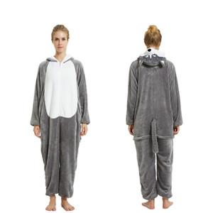 2016 adulti bello del fumetto Zebra Kangaroo Pigiama Cosplay Tutina Tutina con cappuccio Kigurumi Tuta Pigiama Homewear Lounge Wear Sleepwear