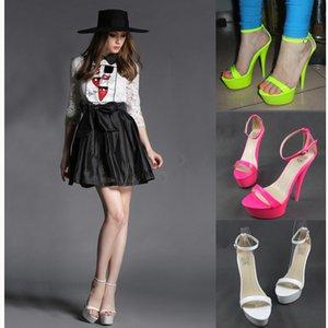 Fancy2019 Of Lady * Qualité Vent Couleur Fluorescence Mot Apportez Sexy Toe Super High One Avec Des Sandales 35-41