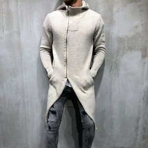Color Zipper Sample Sweaters Casual Long Solid Designer Slim X-Long Sweaters Sleeved Hooded Fashion Mens Mens Xioea