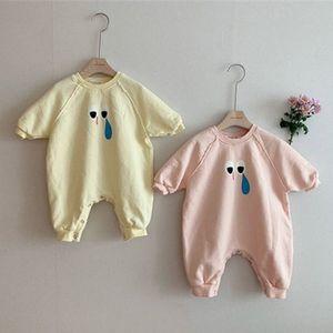 Facejoyous 2020 Infant Baby Girl Romper хлопка Новорожденный мальчик комбинезон мультфильм глаз Одежда Outfit Осень Детская одежда
