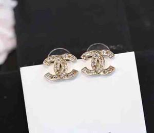 Top latão material de paris brinco desenho dos blocos de ouro com diamantes e prata banhado para mulheres brinco PS5646A presente da jóia