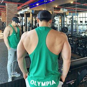 Aitonoble 2020 Homens de algodão Regatas Gym Olympia Vest Mens Undershirt Fitness Técnico camisas Masculino Bodyshaper Academia Luta livre Singlets