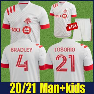 2020 niños 2021 FC Toronto Fútbol kit ALTIDORE BRADLEY camisetas de adultos MLS OSORIO POZUELO uniforme Más 10pcs envío libre de DHL