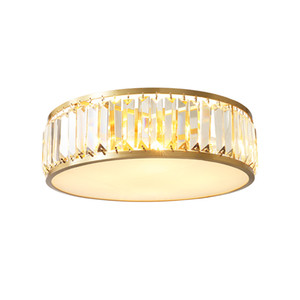 Copper LED crystal ceiling lamp luxury golden living room decoration lamp Dia.45cm 4 x E14 romantic wedding modern bedroom light child lamp