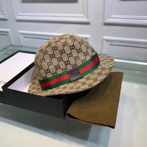 El nuevo diseñador de lujo casquillos de la pesca de cubo sombreros mujeres de los hombres al aire libre Pescador Cap camping Marca Bob clásico del sombrero del cubo de Verano Sun Beach 2020682K