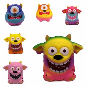 Squishy One-Eyed Monster Toy Slow Rising Doux Oversize Squeeze Jouets Pendentif Anti Stress Kid Cartoon Décompression Jouet Party Favor GGA2432