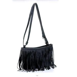 Designer - Womens Tassle Tassel Fringe Faux Suede Ombro Mensageiro Crossbody Bag bolsa Castanho Branco L09014