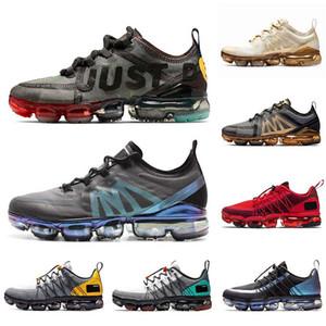nike air vapormax 2019 vm tn plus sapatos CPFM Vapores Run Utility tênis para homens Triplo Branco Preto Reflexivo Médio Azeitona Borgonha Designers Sapatilhas para homem