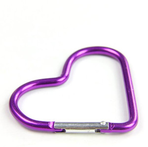 Heart Shaped Carabiner Aluminum Alloy Outdoor Survival Hook Buckle Camping Backpack Bottle Hanging buckle