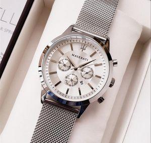 2019 Mens Sport Montre-Bracelet Top Marque maserati Bracelet En Caoutchouc Quartz Mouvement Cadeau Heure Horloge Wacth Relojes Hombre Horloge Orologio Uomo