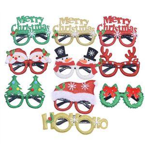 Weihnachtsdekoration Weihnachtsmann Schneemann Gläser Spielzeug für Weihnachten Zuhause-Party Weihnachten Geschenke Dekor Foto Prop Maske Navidad Gläser