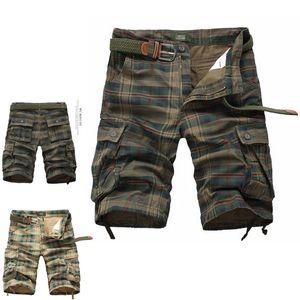 pantaloncini stile Mens Shorts Inghilterra Estate Army Mens Cargo lavoro occasionale Bermuda Plaid Shorts modo classico generali della partita