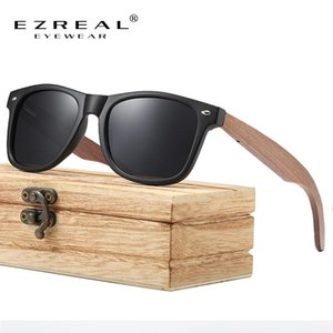 Ezreal Marque Noyer Bois Polarized lunettes de soleil WomenOculos de sol Masculino S7061h Ezreal Marque