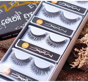 HOT-Mac 10pairs / LOT de cílios falsos 3D Mink cílios falso Eye Lashes Extensão Maquiagem Maquillaje Set transporte rápido