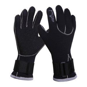 1 paire de plongée Gants de plongée étanche Hommes Femmes écran tactile, Five Finger eau d'hiver Pêche moufles Snorkeling