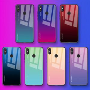 Gradienten gehärtetem glas telefon case für redmi note 7 6 5 pro pocophone f1 anti-scratch zurück case abdeckung für mi 9 8 6 mix 2 3