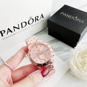 베스트셀러 새로운 고급 패션 브랜드 판도라의 남성과 여성은 고급 스테인레스 스틸 스트랩 캐주얼 하이 엔드 럭셔리 패션 남성 시계 시계