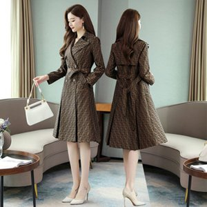 Women herren designer jacken windbreaker suits collar long section personality fashion trend FF woman long coat womens windbreaker belt new