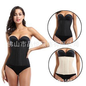 Mesh Breathable 9 Steel Bone Natural Rubber Bodysuit Corset Women Sports Fitness Girdle Abdomen Rubber Bodysuit Waist Trainer Body Shapewear