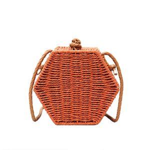 Sac à main Messenger Bag Sac à rabat mode de paille Crochet Personnalité Tendance Excellente Sacs de maquillage de qualité Livraison gratuite Simple