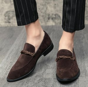 New Trend 2020 Men pointed Nubuck Paper oxford slip-on shoes Male Dress Wedding prom Homecoming Shoe zapatillas hombre footware