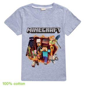 12 tapas de color 2020 algodón Minecraft Minecraft tapas de los niños y niñas de los niños de manga corta de la camiseta T285 bebé Ropa Niños