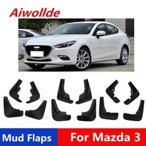 Guardabarros del coche para Mazda 3 Axela 2007-2017 Mudflaps Guardabarros aleta del fango parte posterior del frente guardabarros Fender