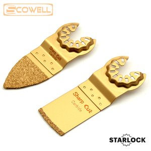 Starlock 32mm Oscillating Multi Tool Saw Blades Carbide Plunge Saw Blades For Tile Grinding Tile Edge Cutting 8pcs box