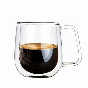 New Design Kaffeetassen Tee-Becher Handgemachte Getränk Kreative Bier einen Becher Büro-Becher Transparent Trinkgefäße Doppelglastassen