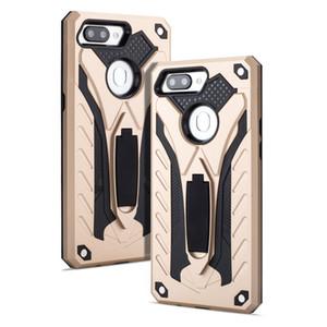 Double couche d'impact armure stand Phone Case pour OPPO rêve en première année R15 antichocs niveau militaire avec construit dans Béquille