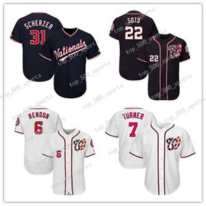 Washington # Nationals Mens Knit Jersey Max Scherzer Anthony Rendon Juan Soto Trea Turner Ryan Zimmerman Baseball Jerseys Gewohnheit irgendeine Trikots