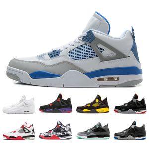 2018 pas cher Chaussures de haute qualité 4 4s Hommes Chaussures de basketball Rouge Feu Alternate 89 Black Cat Rouge Feu Sport Sneakers Taille5.5-13