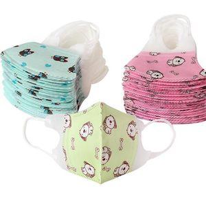Kinder-Cartoon-Gesichtsmasken Baby-Non-Woven Printed Mund Gesichtsmaske Anti-Staub-Breathable-Sicherheits-Schutz Earloop Gesicht IIA403 Maske