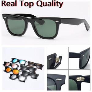 Designer-Sonnenbrillen Top-Qualität Azetatrahmen echte UV400 Glaslinsen Männer Frau Sonnenbrille mit original Ledertasche verpackt alles!